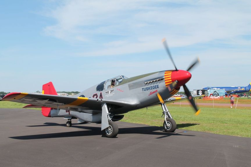 "CAF P-51 ""Tuskegee Airmen"" Mustang at Opa Locka Airport, 11-15 October 2018"