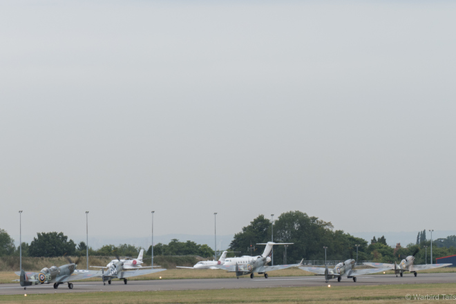 A small section of the line-up prepares for take-off.