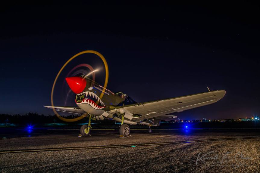 "Air to Air With RARE TP-40N Warhawk ""American Dream"""