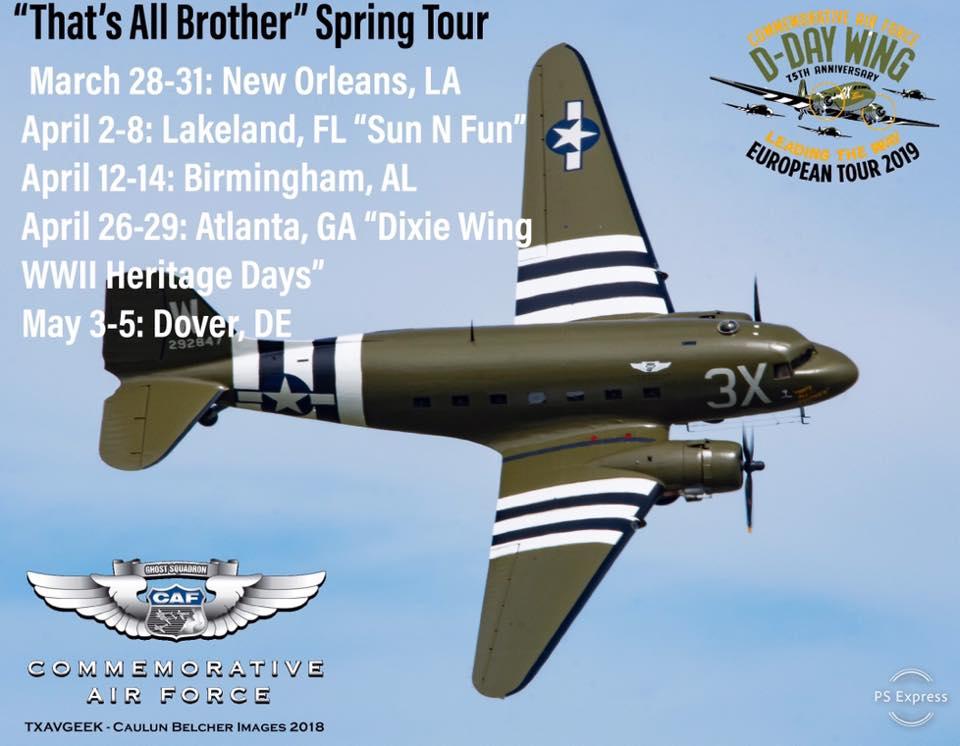 2019 Sun N Fun Warbird Airshow Performer Alert — CAF C-47 ...