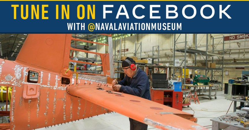 A behind the scenes tour in the restoration area at the National Naval Aviation Museum