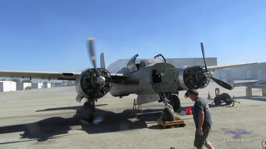 Kermit Weeks A-26 Invader enginerun-up