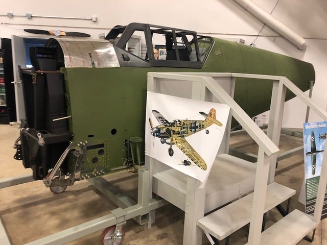 Kermit Weeks Bf-109 on display at the Saskatchewan Aviation Museum and Learning Centre